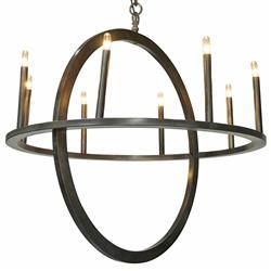 Randall Industrial Loft Metal Circle Pendant Light