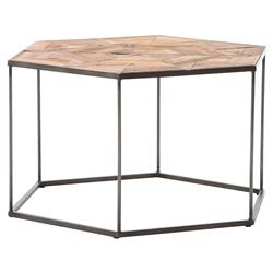 Bronzie Iron Hexagon Industrial Style Side End Table | 4H-CIRD-P9