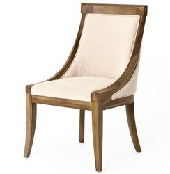Liv Wood Natural Textured Cotton Dining Chair - Pair