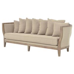 Deanne Rustic Beige Clay Exposed Frame Sofa