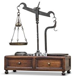 Flanders Industrial Vintage Reproduction Antique Scale on Stand | 4H-CVT-0065