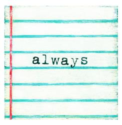 Always Lined Notebook Reclaimed Wood Wall Art - 12x12