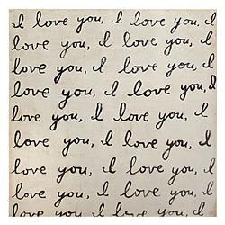 Darling I Love You' Reclaimed Wood Art Print Wall Art - Bottom - Small | SUGAR-SP137