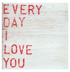 Every Day I Love You Red Block Wood Wall Art - 12x12