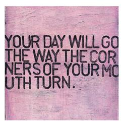 Your Day Will Go Pink Distressed Reclaimed Wood Wall Art - 12 Inch