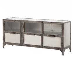 Fronzoni Industrial Loft Wide Shoe Locker Style Media Cabinet Console