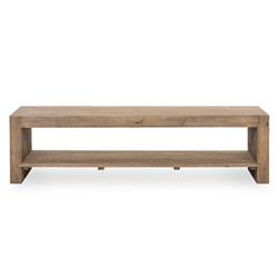Wynn Modern Rustic Lodge Chunky Reclaimed Wood Rectangle Coffee Table