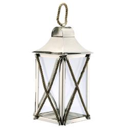 Juno Coastal Beach Criss Cross Rope Candle Lantern