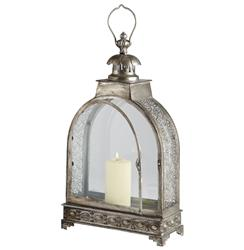 Clover Filigree Pattern Global Bazaar Steel Candle Lantern