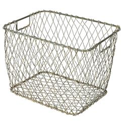 Claudio Industrial Country Market Metal Baskets - Set of 4
