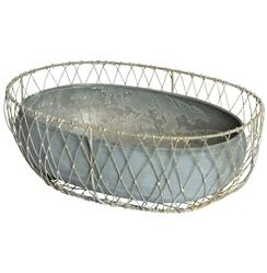 Hemsworth Industrial Farmhouse Metal Floral Baskets