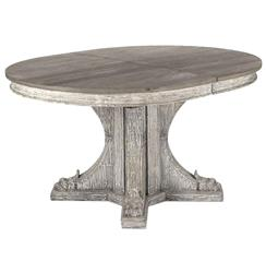 maris french country reclaimed elm round dining table kathy kuo home. Black Bedroom Furniture Sets. Home Design Ideas