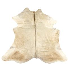 Albino Brazilian White Ivory Hair on Hide Rug