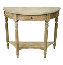 Traditional French Country Style Demilune Console Table | Kathy Kuo Home