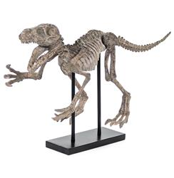 T-Rex Full Body Mount Replica Black Tabletop Sculpture - 31.5 Inch