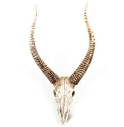 Yuma Rustic Lodge Reproduction Goat Skull Trophy Wall Mount Sculpture