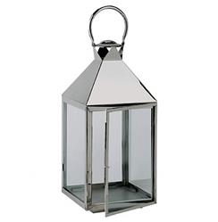 Hillsboro Coastal Beach Nickel Glass Candle Lantern - 32 Inch