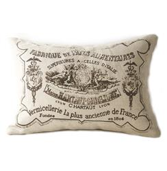 French Country Down Blend Pillow with Illustrations