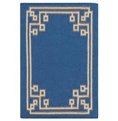 Lockhart Hollywood Regency Cobalt Blue Hand Woven Wool Rug - 2x3
