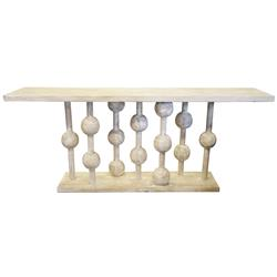 Abacus Global Bazaar Reclaimed Wood Console Table | Kathy Kuo Home