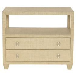 Abena Coastal Beach Natural Raffia Chest Dresser | Kathy Kuo Home