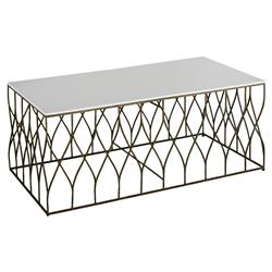 Ada Modern Deco Bone Brass Coffee Table | Kathy Kuo Home