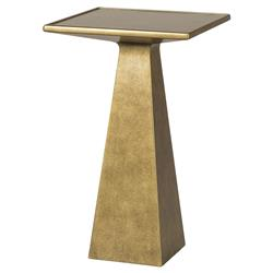 Adom Regency Gold Leaf Pyramid End Table | Kathy Kuo Home