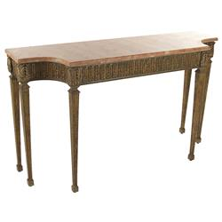 Adora French Ornate Wood Stone Console Table | Kathy Kuo Home