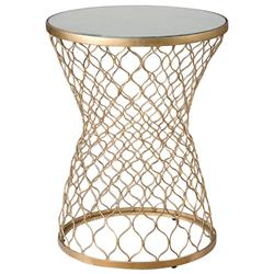 Aisha Global Bazaar Mirrored Gold End Table | Kathy Kuo Home