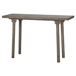 Akron Rustic Lodge Simple Wood Console Table | Kathy Kuo Home