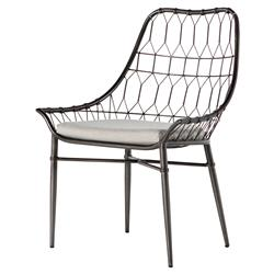 Albin Scooped Metal Outdoor Dining Chair | Kathy Kuo Home