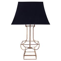 Alexia Modern Classic Black Gold Table Lamp | Kathy Kuo Home