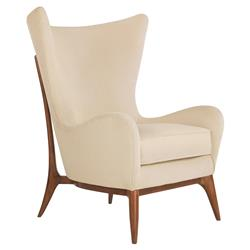 Alice Classic Wing-Back Winter White Upholstered Club Chair | Kathy Kuo Home