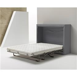 Alice Modern Classic Warm Grey Upholstered Murphy Convertible Wall Bed | Kathy Kuo Home