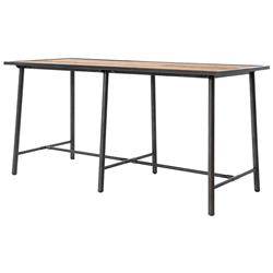 Allegheny Industrial Loft Reclaimed Oak Iron Dining Bar Table | Kathy Kuo Home