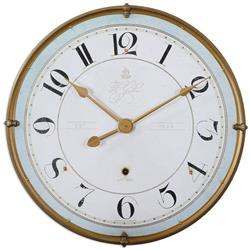 Alouette French Country Antique Frame Gold Wall Clock | Kathy Kuo Home