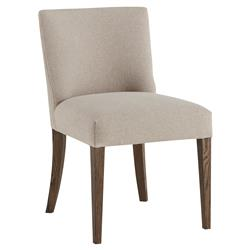 Anakin Lodge Industrial Beige Linen Ash Dining Chair | Kathy Kuo Home