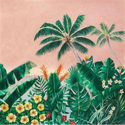 Anewall Melika Modern Classic Tropical Palm Tree Wallpaper | Kathy Kuo Home