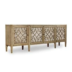 Angelique French Country Mirrored Four Door Sideboard | Kathy Kuo Home