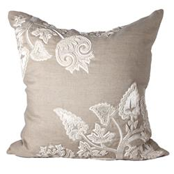 Ania Modern Classic White Natural Pillow - 24x24 | Kathy Kuo Home