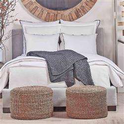 Ann Gish Modern Snap Cotton Duvet with Charmeuse Trim - Queen | Kathy Kuo Home
