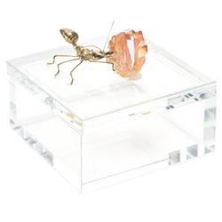 Ant Goes Marching Crystal Embellished Decorative Box | Kathy Kuo Home
