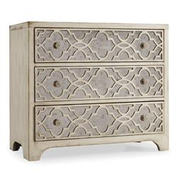 Aristid Fretwork Mirrored Three Drawer Chest | Kathy Kuo Home