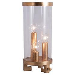 Arne Modern Classic Gold Glass Cylinder Table Lamp - 6.5D | Kathy Kuo Home