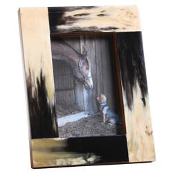 Ashburn Modern Classic Dark Horn Material Photo Frame - Small | Kathy Kuo Home