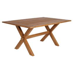 Ashley Rustic Lodge Reclaimed Teak Outdoor Dining Table - Small | Kathy Kuo Home