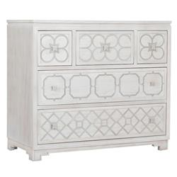 Assam Global White Wash Metal Accent Dresser | Kathy Kuo Home