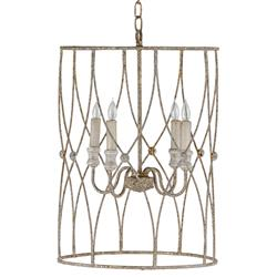 Audrina French Antique Silver Gold Delicate Lantern | Kathy Kuo Home
