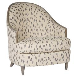 Avery Bazaar Rounded Beige Animal Spot Armchair | Kathy Kuo Home