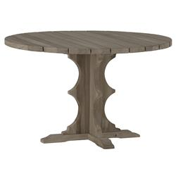 Avondale French Teak Round Dining Table | Kathy Kuo Home